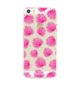 FOONCASE Iphone SE - Pink leaves