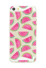 FOONCASE iPhone SE hoesje TPU Soft Case - Back Cover - Watermeloen