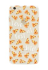 FOONCASE iPhone 6 Plus hoesje TPU Soft Case - Back Cover - Pizza / Food
