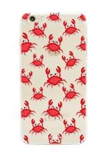 FOONCASE iPhone 6 Plus hoesje TPU Soft Case - Back Cover - Crabs / Krabbetjes / Krabben