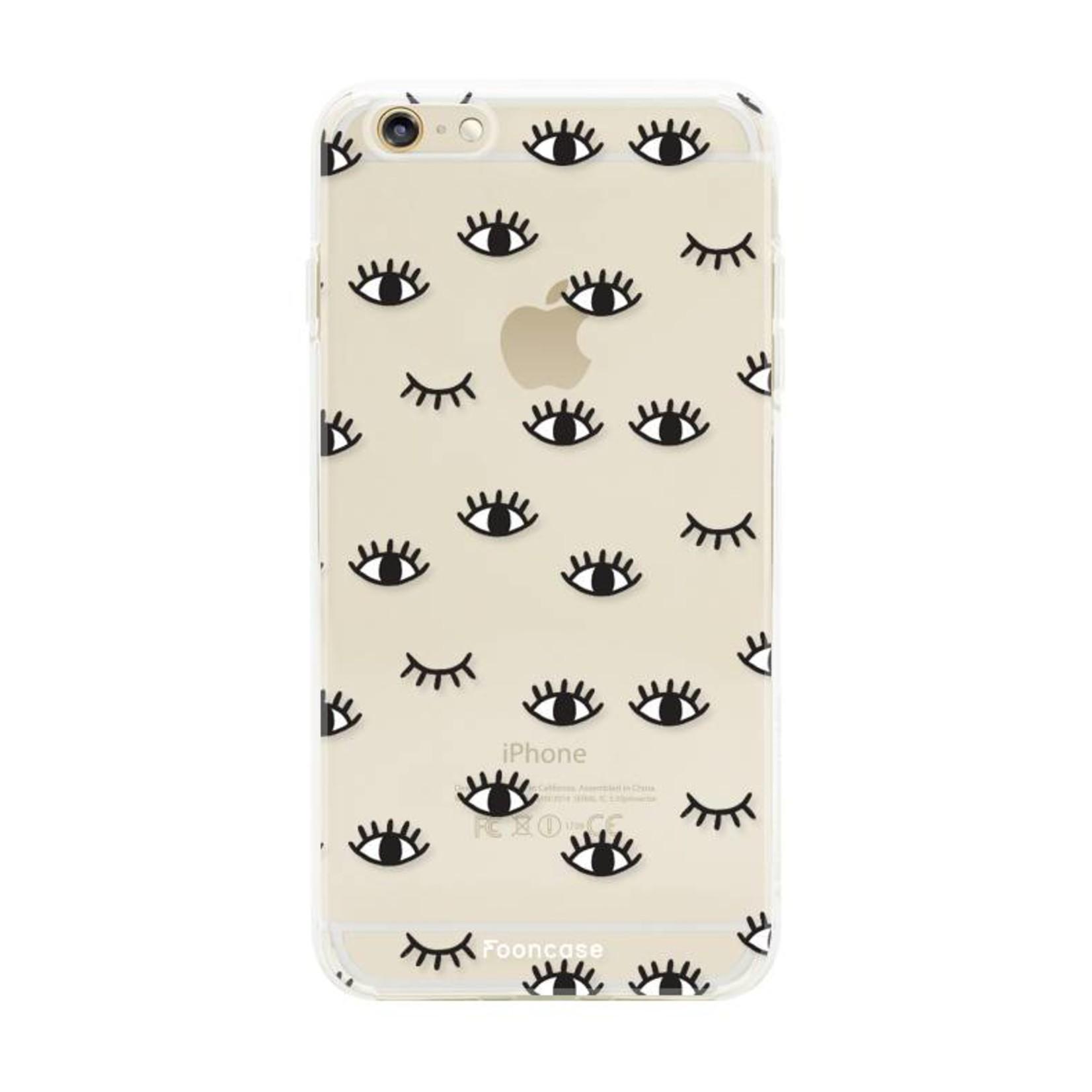 FOONCASE iPhone 6 / 6S hoesje TPU Soft Case - Back Cover - Eyes / Ogen