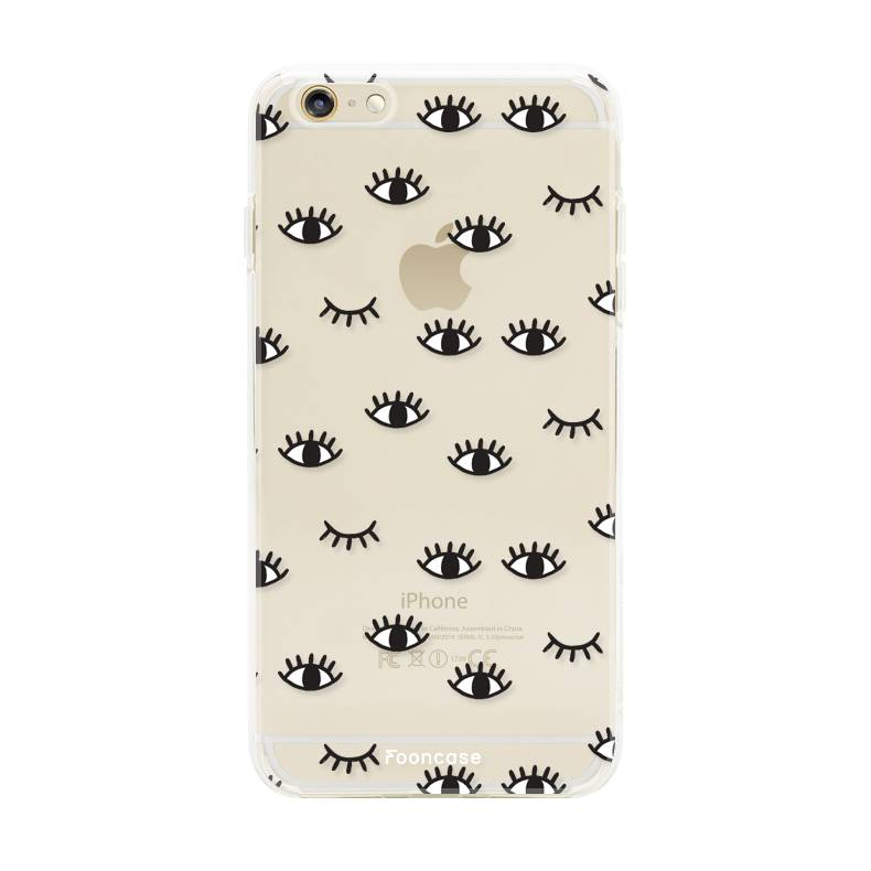 FOONCASE iPhone 6 / 6S hoesje TPU Soft Case - Back Cover - Eyes / Ogen