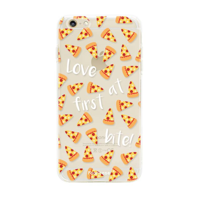 FOONCASE iPhone 6 / 6S hoesje TPU Soft Case - Back Cover - Pizza / Food