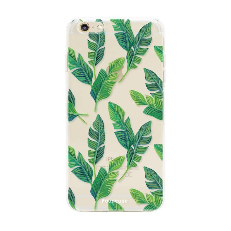 FOONCASE iPhone 6 / 6S hoesje TPU Soft Case - Back Cover - Banana leaves / Bananen bladeren