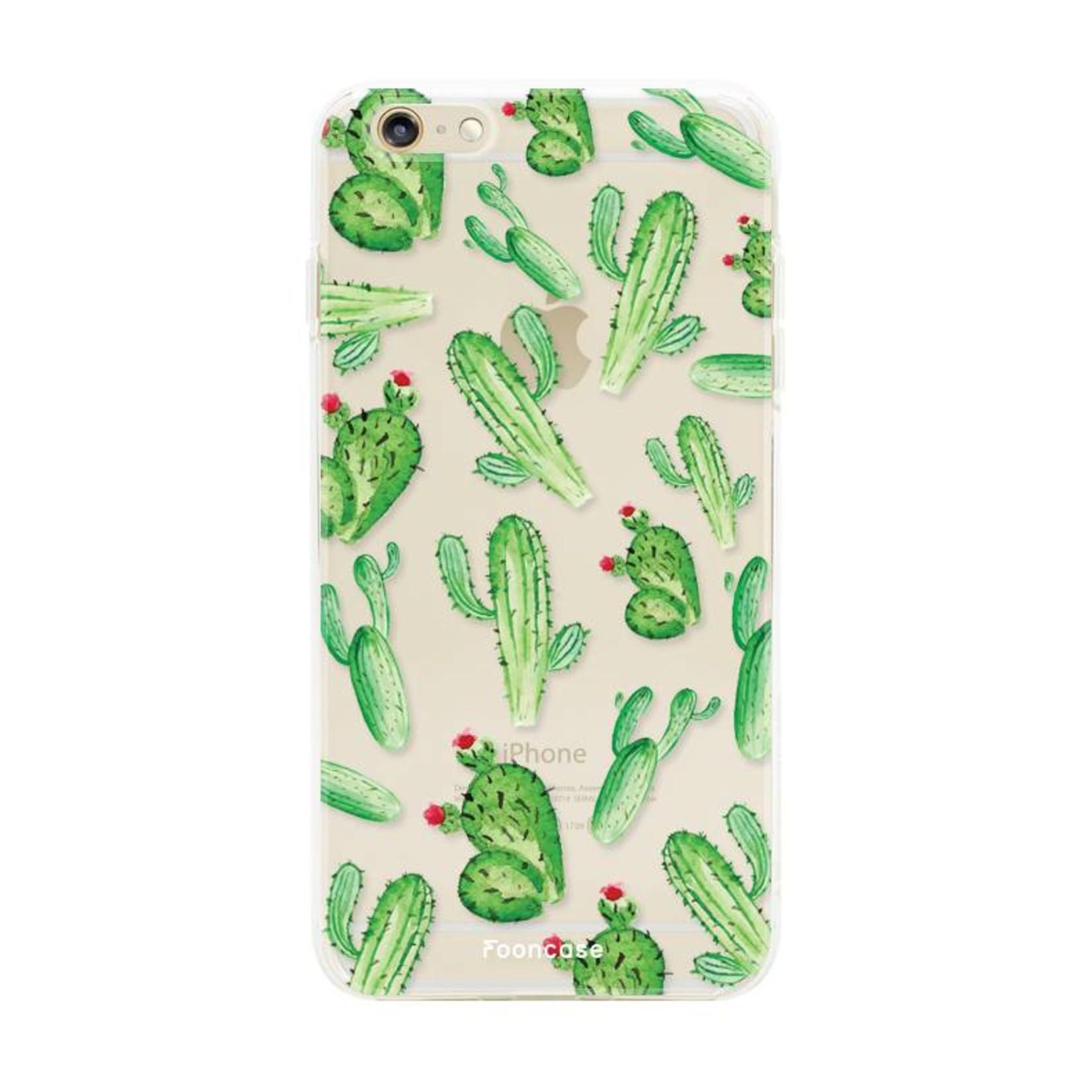 FOONCASE iPhone 6 / 6S hoesje TPU Soft Case - Back Cover - Cactus