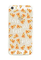 FOONCASE iPhone 5 / 5S hoesje TPU Soft Case - Back Cover - Pizza / Food