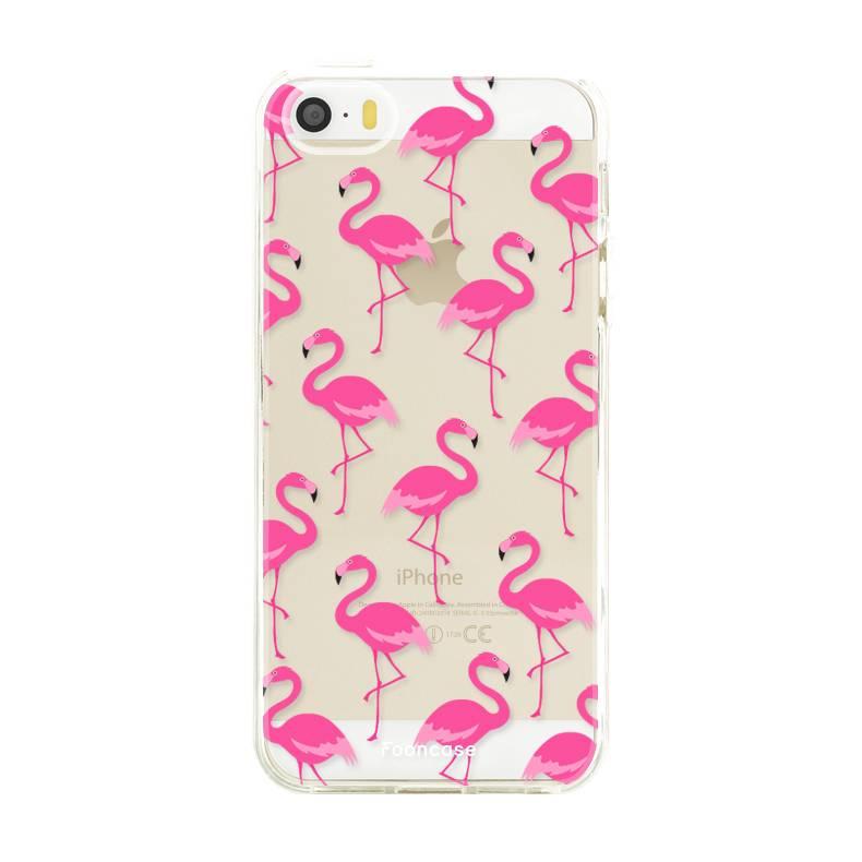FOONCASE Iphone 5 / 5S Handyhülle - Flamingo