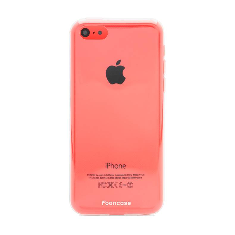 FOONCASE iPhone 5C hoesje TPU Soft Case - Back Cover - Transparant / Doorzichtig