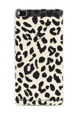 FOONCASE Huawei P8 hoesje TPU Soft Case - Back Cover - Luipaard / Leopard print