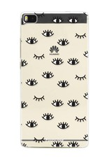 FOONCASE Huawei P8 hoesje TPU Soft Case - Back Cover - Eyes / Ogen