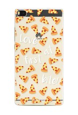 FOONCASE Huawei P8 hoesje TPU Soft Case - Back Cover - Pizza / Food