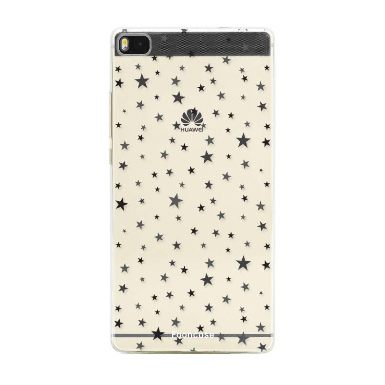 FOONCASE Huawei P8 hoesje TPU Soft Case - Back Cover - Stars / Sterretjes