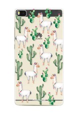 FOONCASE Huawei P8 hoesje TPU Soft Case - Back Cover - Alpaca / Lama