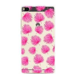 FOONCASE Huawei P8 - Rosa Blätter