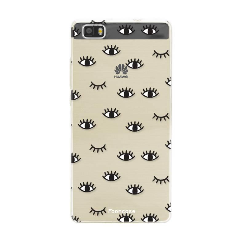 FOONCASE Huawei P8 Lite 2016 hoesje TPU Soft Case - Back Cover - Eyes / Ogen