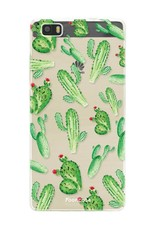FOONCASE Huawei P8 Lite 2016 hoesje TPU Soft Case - Back Cover - Cactus