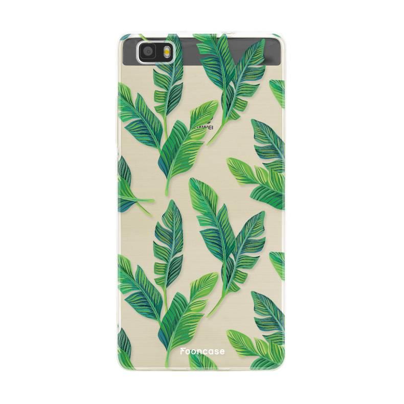 FOONCASE Huawei P8 Lite 2016 hoesje TPU Soft Case - Back Cover - Banana leaves / Bananen bladeren