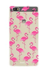 FOONCASE Huawei P8 Lite 2016 hoesje TPU Soft Case - Back Cover - Flamingo