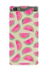 FOONCASE Huawei P8 Lite 2016 hoesje TPU Soft Case - Back Cover - Watermeloen