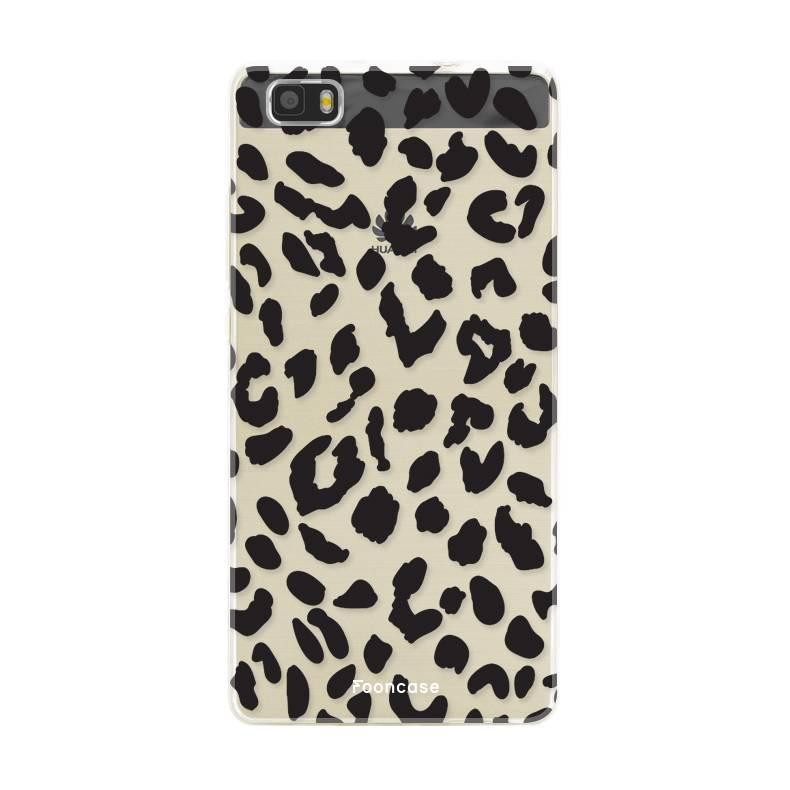 FOONCASE Huawei P8 Lite 2016 hoesje TPU Soft Case - Back Cover - Luipaard / Leopard print
