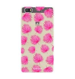 FOONCASE Huawei P8 Lite - Pink leaves