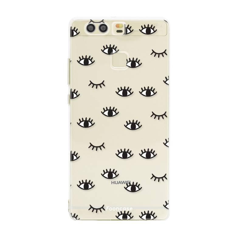 FOONCASE Huawei P9 hoesje TPU Soft Case - Back Cover - Eyes / Ogen