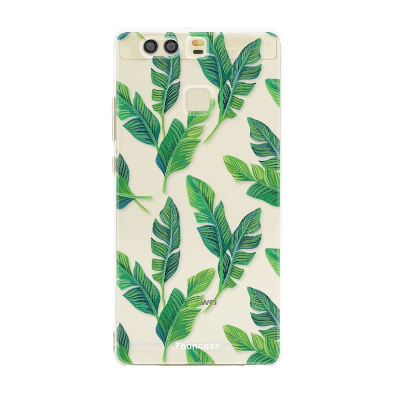 FOONCASE Huawei P9 hoesje TPU Soft Case - Back Cover - Banana leaves / Bananen bladeren