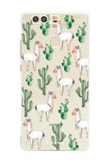 FOONCASE Huawei P9 hoesje TPU Soft Case - Back Cover - Alpaca / Lama