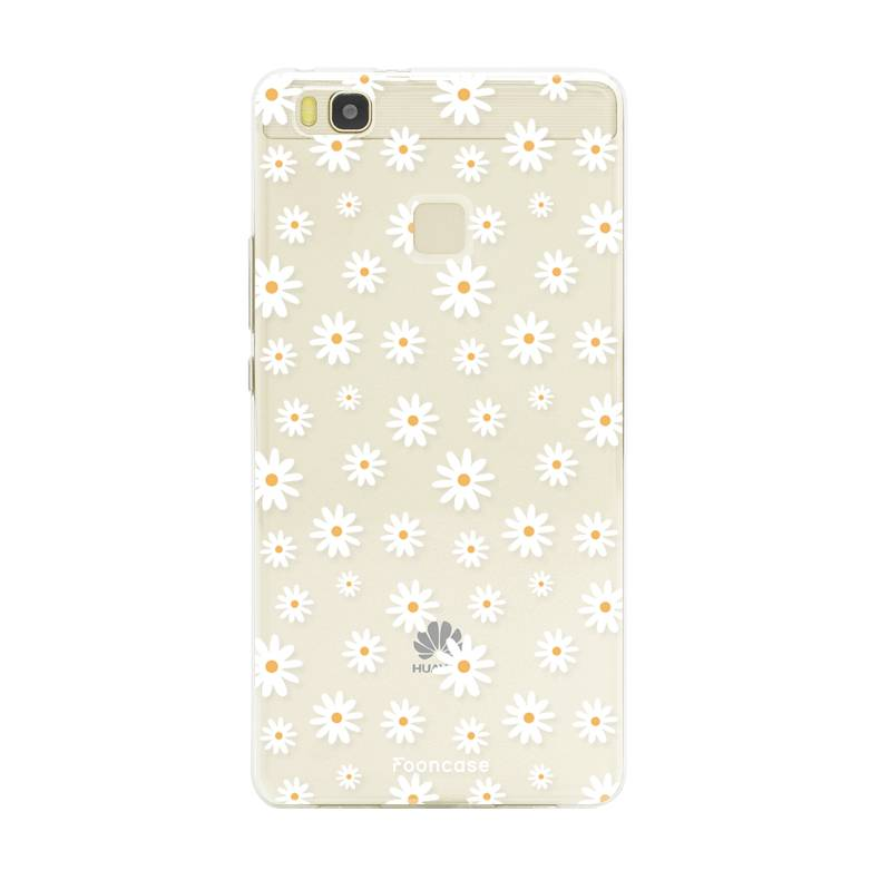 FOONCASE Huawei P9 Lite hoesje TPU Soft Case - Back Cover - Madeliefjes