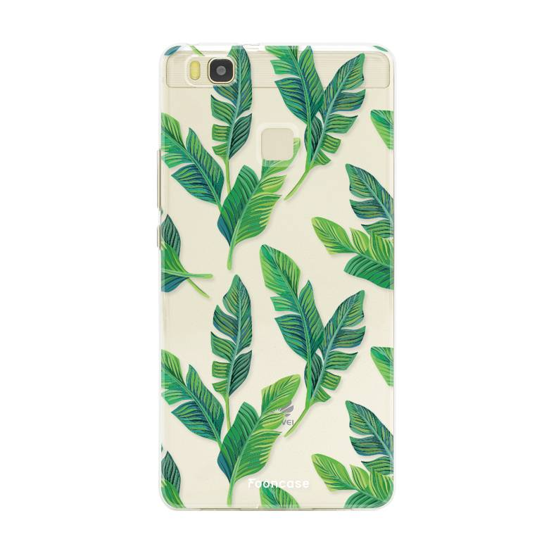FOONCASE Huawei P9 Lite hoesje TPU Soft Case - Back Cover - Banana leaves / Bananen bladeren