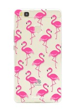 FOONCASE Huawei P9 Lite hoesje TPU Soft Case - Back Cover - Flamingo