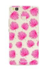 FOONCASE Huawei P9 Lite Handyhülle - Rosa Blätter