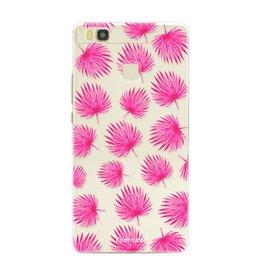 FOONCASE Huawei P9 Lite - Pink leaves