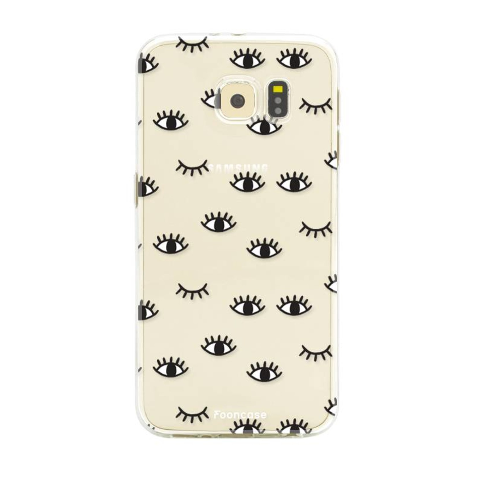 FOONCASE Samsung Galaxy S6 hoesje TPU Soft Case - Back Cover - Eyes / Ogen