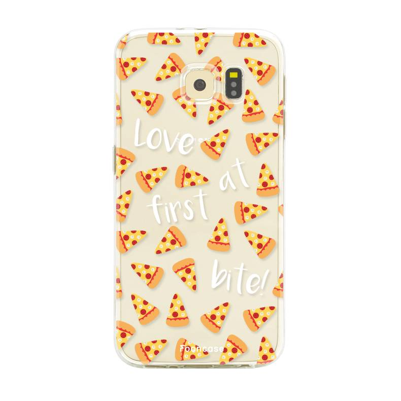 FOONCASE Samsung Galaxy S6 hoesje TPU Soft Case - Back Cover - Pizza / Food