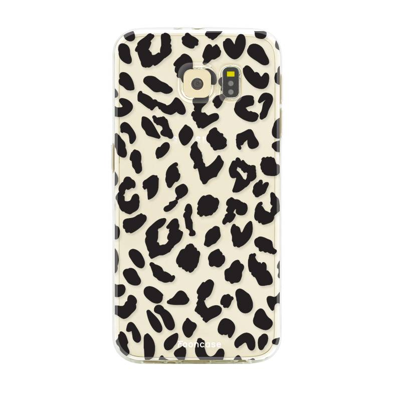 FOONCASE Samsung Galaxy S6 hoesje TPU Soft Case - Back Cover - Luipaard / Leopard print