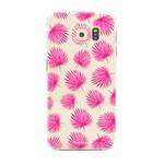FOONCASE Samsung Galaxy S6 - Pink leaves