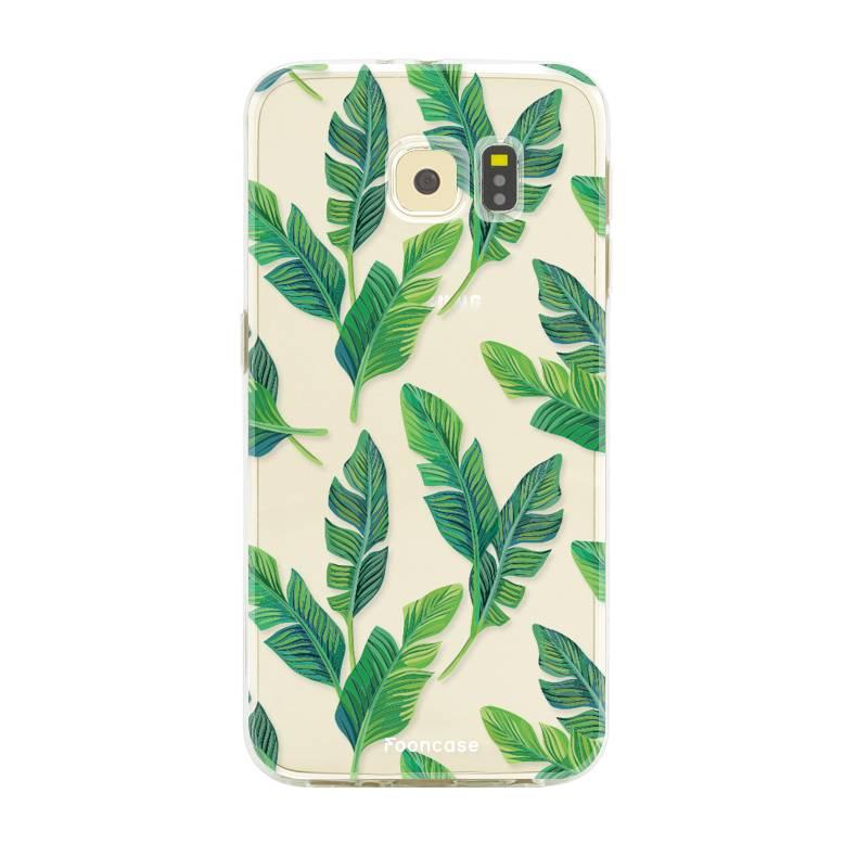 FOONCASE Samsung Galaxy S6 hoesje TPU Soft Case - Back Cover - Banana leaves / Bananen bladeren