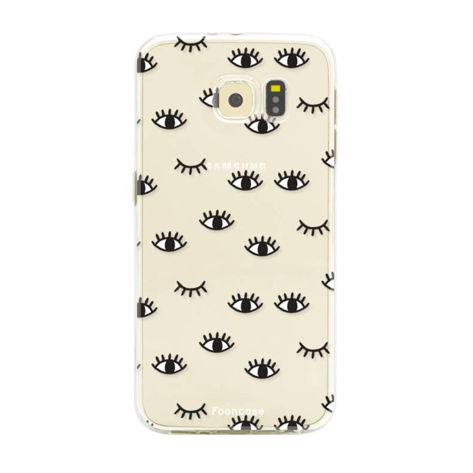 FOONCASE Samsung Galaxy S6 Edge Handyhülle - Eyes
