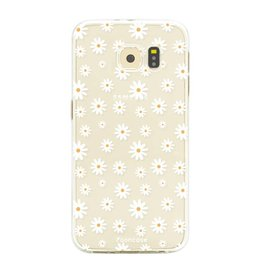 FOONCASE Samsung Galaxy S6 Edge - Madeliefjes