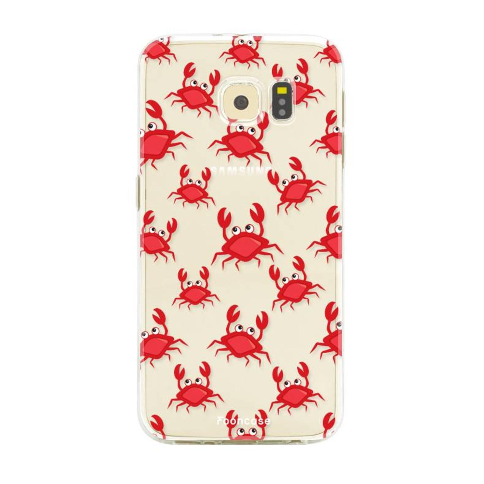 FOONCASE Samsung Galaxy S6 Edge hoesje TPU Soft Case - Back Cover - Crabs / Krabbetjes / Krabben