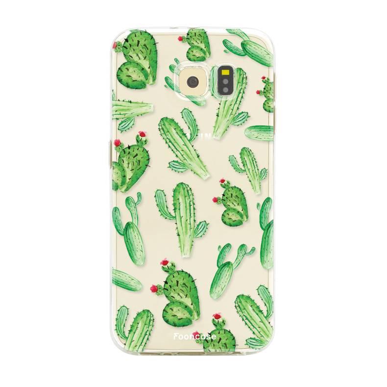 FOONCASE Samsung Galaxy S6 Edge hoesje TPU Soft Case - Back Cover - Cactus