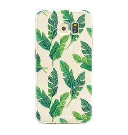 FOONCASE Samsung Galaxy S6 Edge - Banana leaves