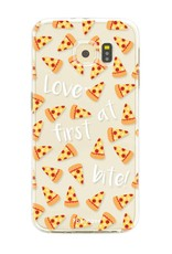 FOONCASE Samsung Galaxy S6 Edge hoesje TPU Soft Case - Back Cover - Pizza / Food