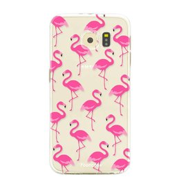 FOONCASE Samsung Galaxy S6 Edge - Flamingo