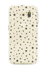 FOONCASE Samsung Galaxy S6 Edge hoesje TPU Soft Case - Back Cover - Stars / Sterretjes