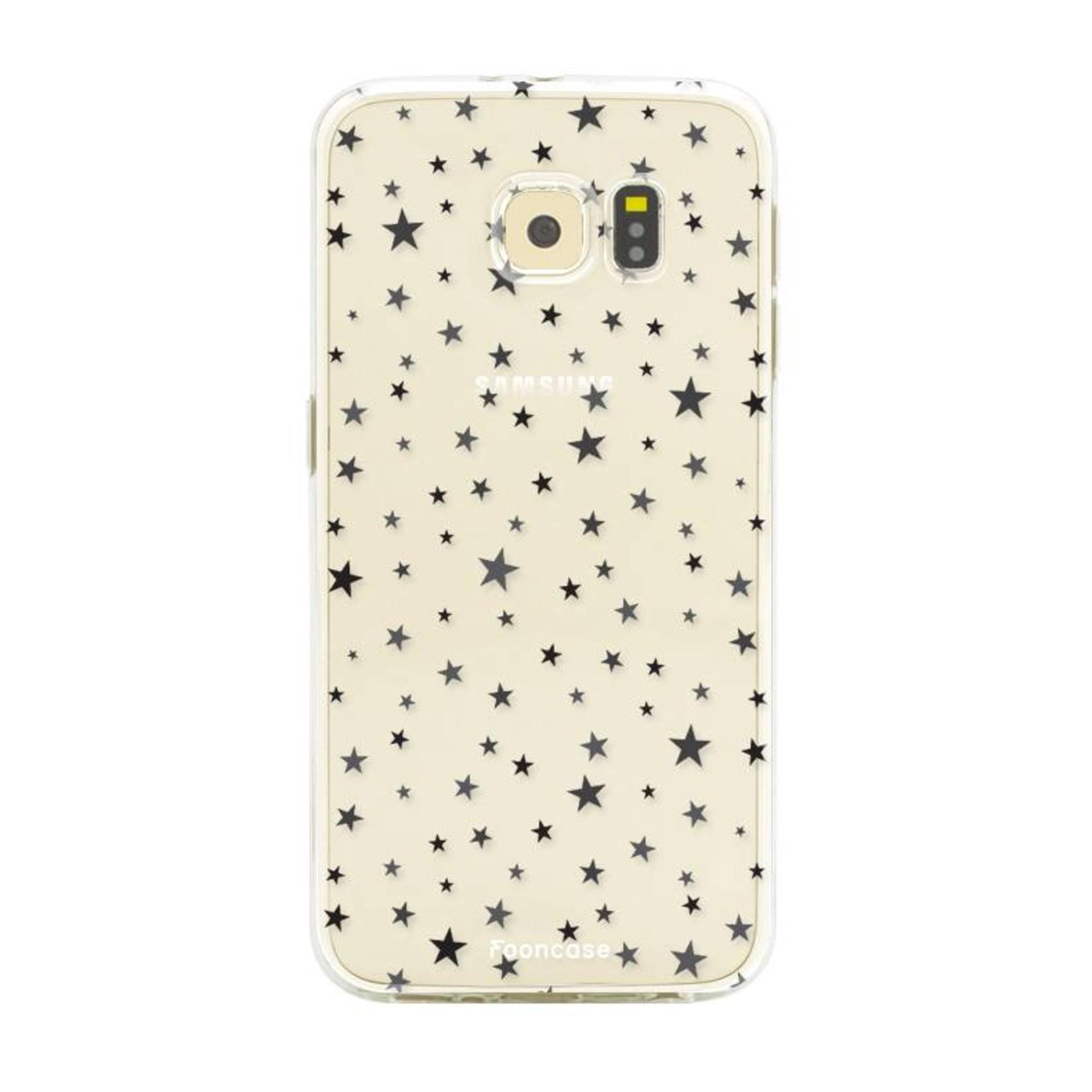 FOONCASE Samsung Galaxy S6 Edge hoesje TPU Soft Case - Back Cover - Stars / Sterretjes