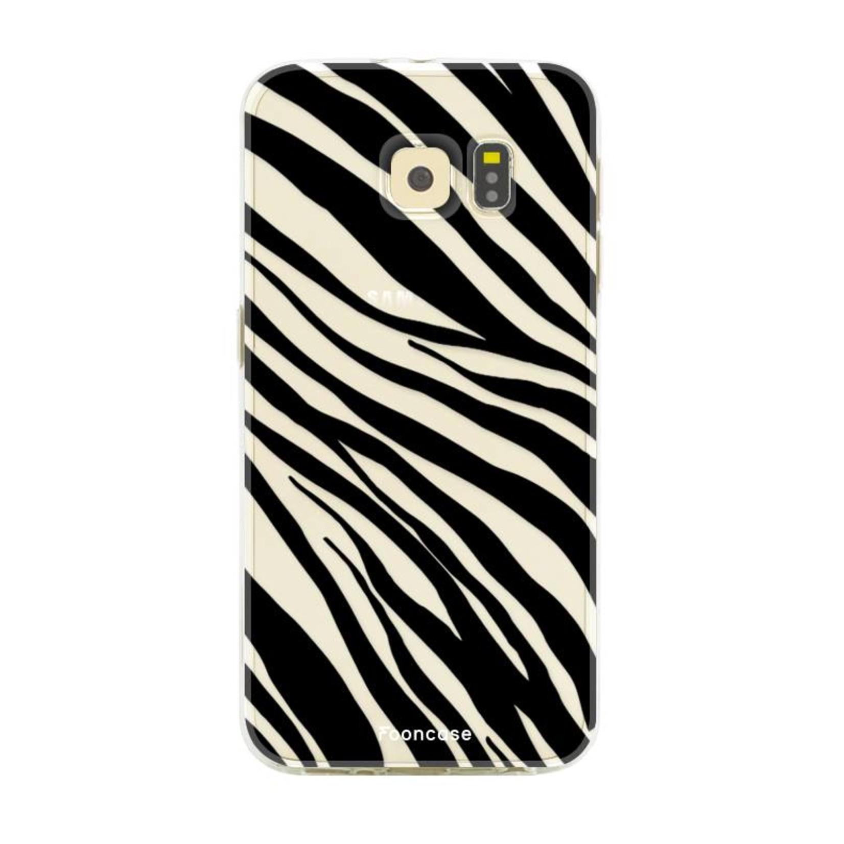 FOONCASE Samsung Galaxy S6 Edge Handyhülle - Zebra