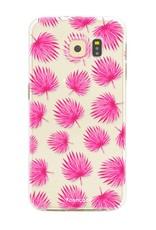 FOONCASE Samsung Galaxy S6 Edge Handyhülle - Rosa Blätter