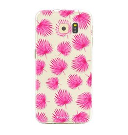 FOONCASE Samsung Galaxy S6 Edge - Pink leaves